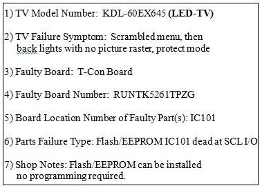 Samsung Sony Toshiba and Vizio LED LCD TV Repair